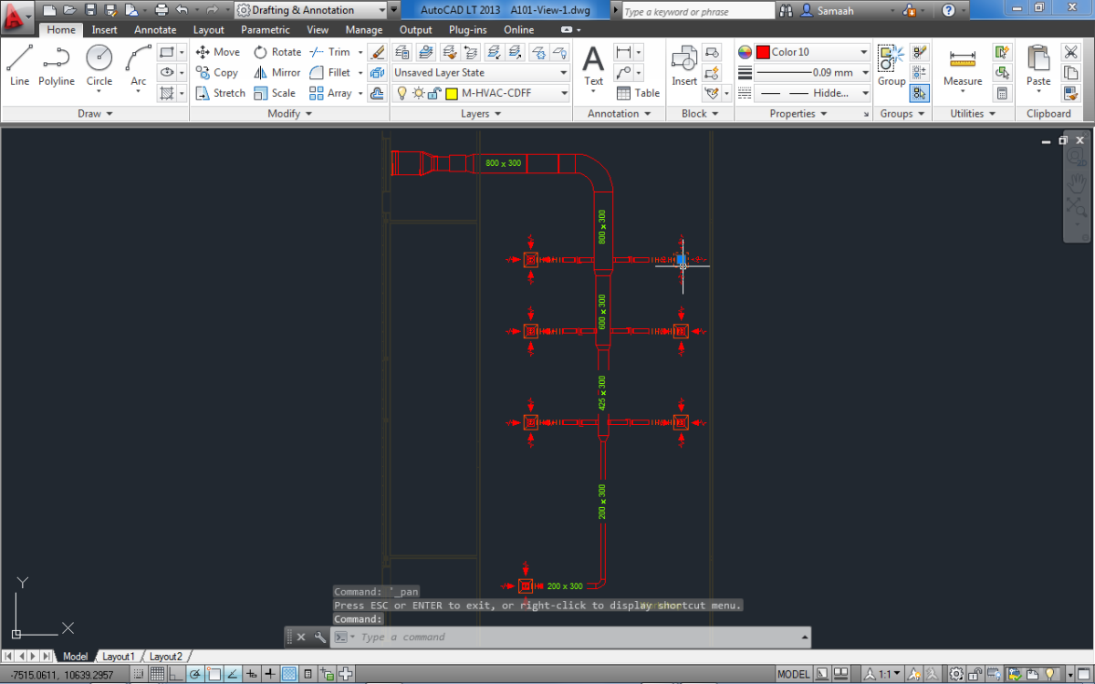 Export Sheet To Autocad Revit Mep 2014 Easy2learn Drawing Hvac Systems